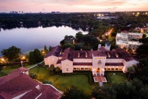 Rollins College view of Olin Library
