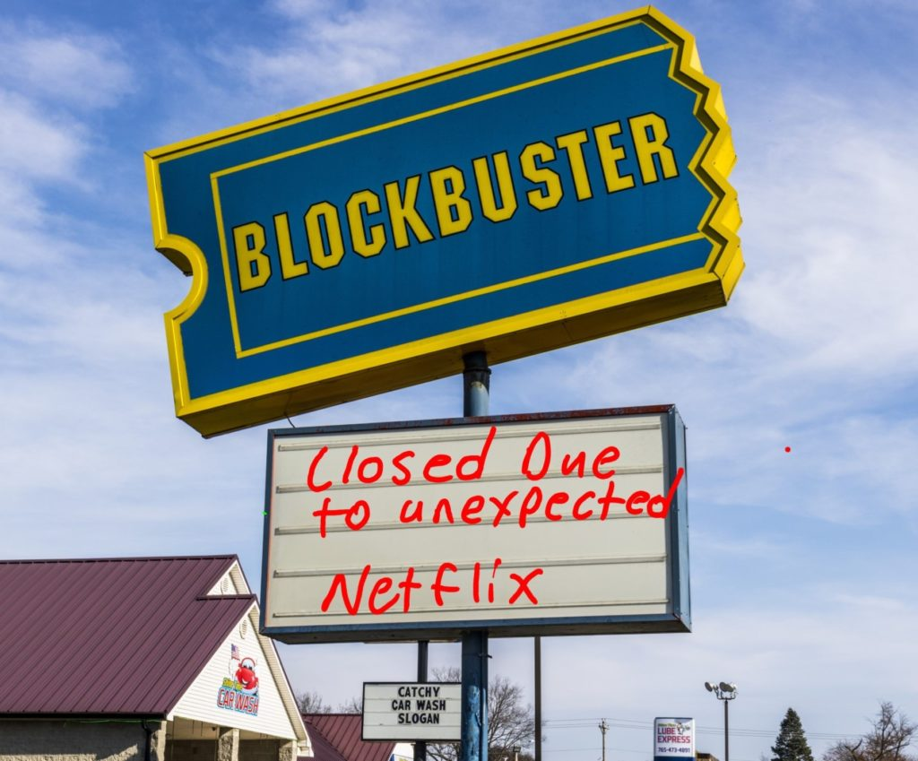 Closed Blockbuster sign