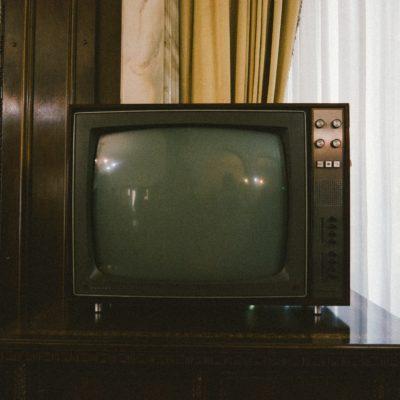 older television representing mass media