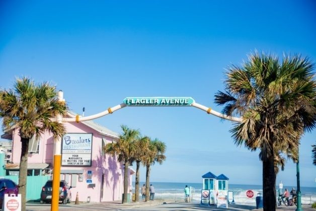 Sign for Flagler Avenue on a sunny day