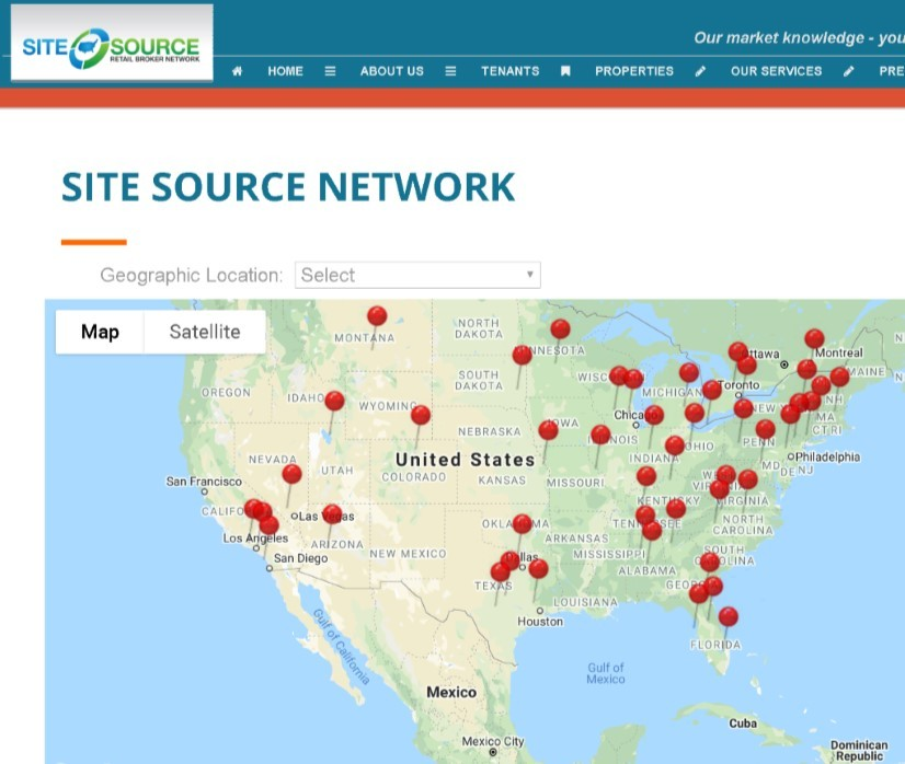 Site Source Network map