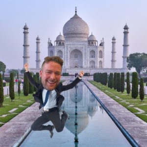 David photoshopped at the Taj Mahal